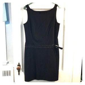 Express Black Drop Waist Dress